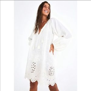 FARM RIO Harmonia long sleeve linen dress
